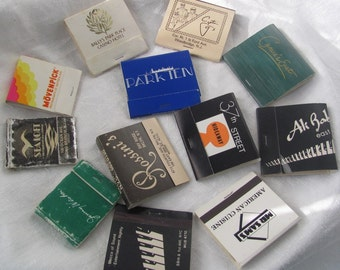Vintage 1970's NYC Matchbook Collection