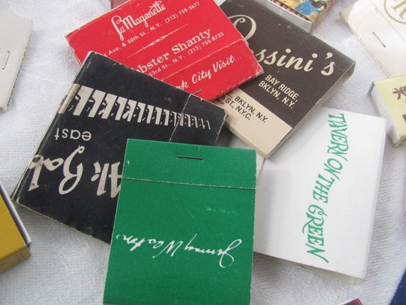 SALE Vintage 1970's NYC Matchbook Collection Was 18.00 Now 15.00