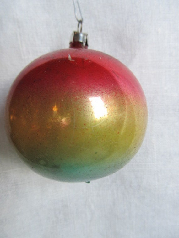 Vintage 1950s West Germany Hand Blown Christmas Ornament