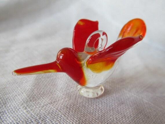 Lampwork Hummingbird Pendant