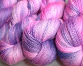 LABOR DAY SALE Naughty Girl Hand Dyed Merino Silk Cashmere Lace Weight Yarn 3 AVAILABLE  Fuschia Hot Pink Purple