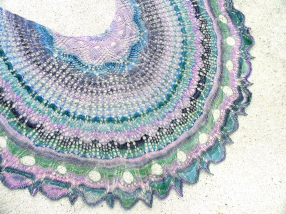 No Two Snowflakes presents Nymphèas Lace Shawl Top Down SHAWL PATTERN PDF by Nicole Feller-Johnson