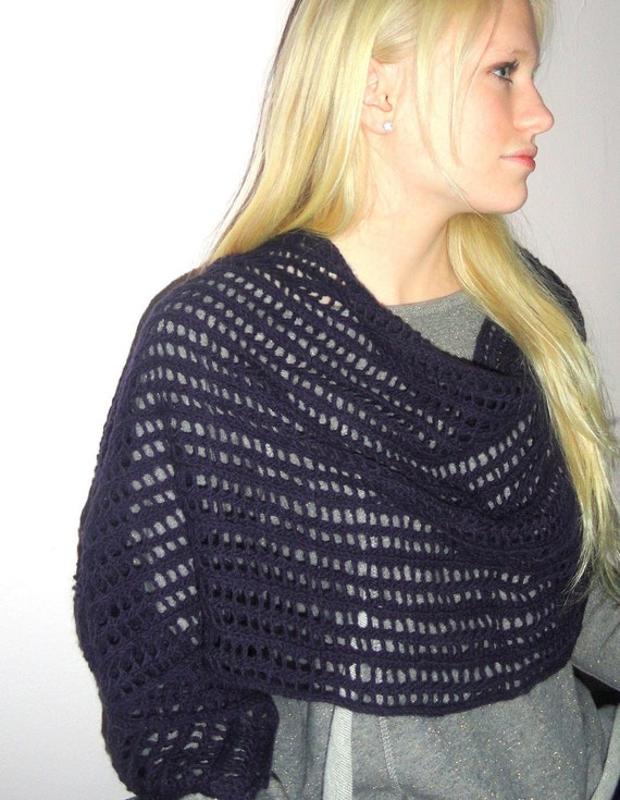 No Two Snowflakes presents Swizzle Lace STOLE PATTERN PDF by Nicole Feller-Johnson