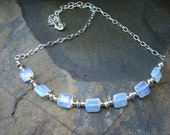 Summery moonstone necklace