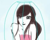 Girl in a birdcage - Reserved Listing for Robin