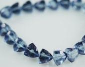 1/2 Strand Blue mystic trillions -- tanzanite color WHOLESALE PRICE 15.00