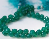 1/2 Strand of Green Onyx Onions  Briolettes