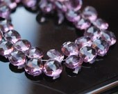 1/2 strand of Pink amethyst color hydro quartz hearts NEW COLOR last set