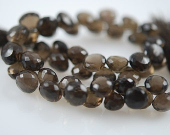 1/2 strand of smoky quartz faceted onions 25.00  ON SALE 20.00