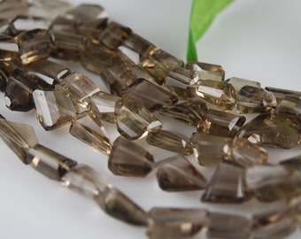 1/2 strand of faceted smokey nuggets WHOLESALE PRICE 15.00