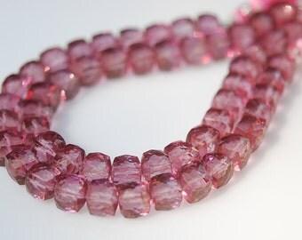 1/2 strand pink mystic quartz cubes-  SUPER LOW PRICE