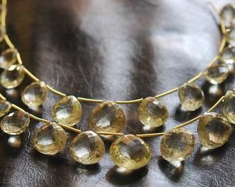AAA quality 1/2 strand  FACETED lemon quartz hearts