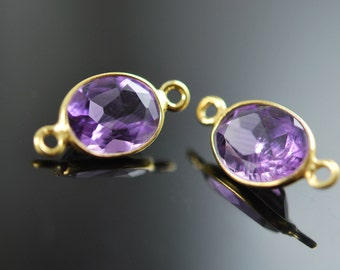 2 matching Super quality Amethyst connector 18.00 ON SALE 16.80