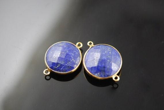 2 matching  Lapis lazuli  connectors 20.00 ON SALE 18.00