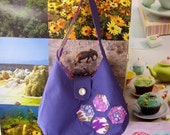 Purple Patchwork Anna Bag