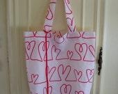 Roll Up Eco Shopper - Hearts