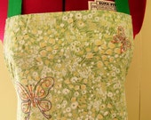 Embroidered Apron - Butterflies
