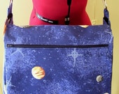 Elizabeth Messenger \/ Laptop Bag - Planets