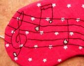 Sleep Mask - Embroidered Music