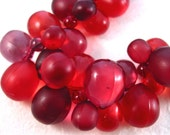 Red and Purple Grapes Necklace