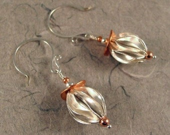 Thai Silver and Copper Earrings