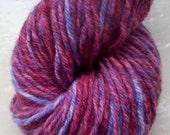 Hand dyed yarn 50g merino cashmere angora damson purple plum blue