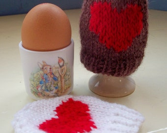 Easter or Valentine egg cozies set