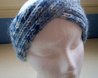 Headband neckwarmer knitted vintage inspired 1940s turban style by SpinningStreak