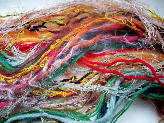 Creative thread pack, inspiration pack, Autumn orange green brown minimum 60 yards 55 metres