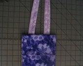 Dark Purple Flowers-Lavendar Butterfly Small Purse