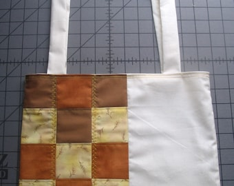 Brown Copper Yellow Patchwork Bag