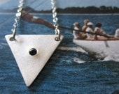 Large Reverse Stone Triangle Necklace