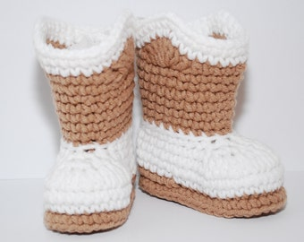 Crochet cowboy boots booties shoes as shown or custom u choose colors 0 3 6 9 12 months