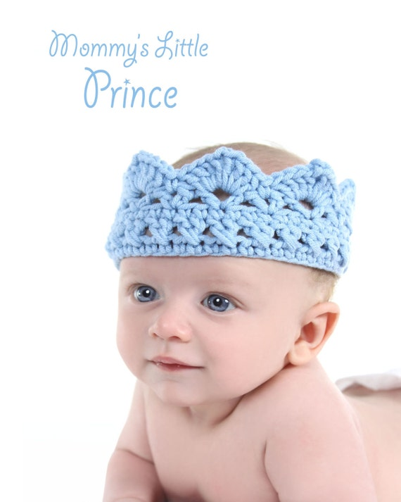 Baby boy crown , blue baby hat, baby photography prop, newborn to toddler