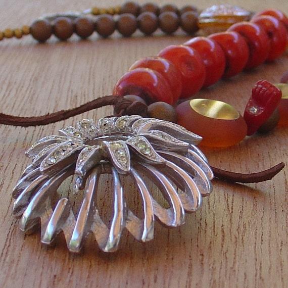 CINNAMON repurposed necklace