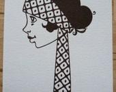 1920s Girl Josephine - Gocco Print