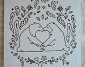 Heart Bears - Limited Edition Gocco Print