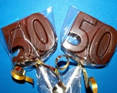 2 Dozen 50th Birthday Anniversary Chocolate Lollipops