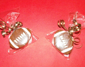 Football Chocolate Covered Oreo Cookies.