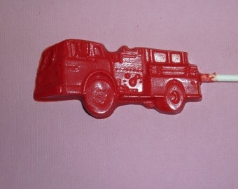 24 Chocolate Fire Truck Favors