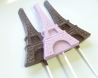 Chocolate Eiffel Tower Lollipop