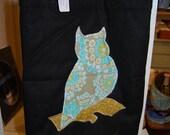Laptop Bag Case Mac Book Owl Design on Black