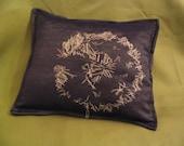 RESERVED         SALE Denim Dandelion Pillow