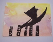 The Traveling Dragon-Goes to New York City Original ACEO