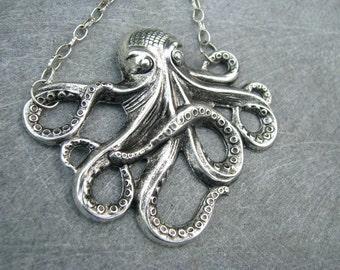 Antique Silver OKTO necklace