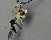 Puzzle Time - Steampunk Gear and Dangle Necklace - 805 College Extravaganza Collection