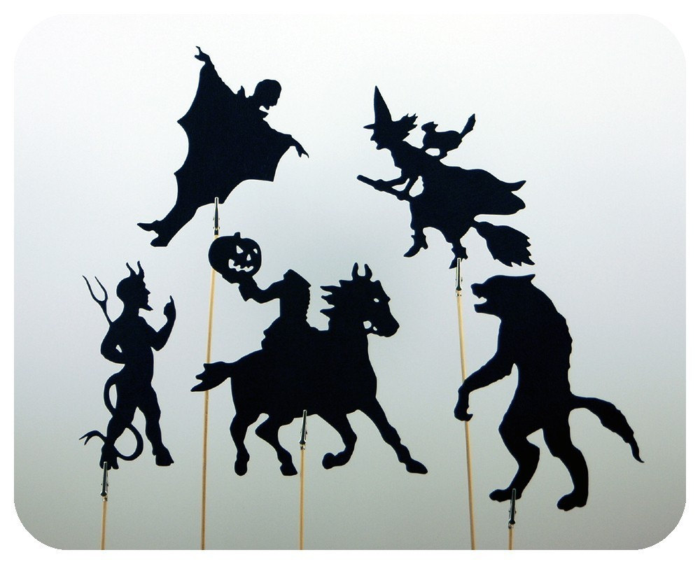Monster Mash Shadow Puppet Set Black