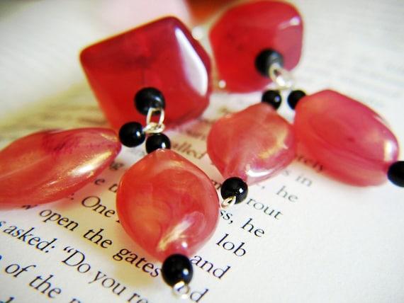 Chunky Rose Resin Earrings