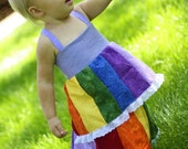 Rainbow Shirt Adjustable size Top sizes 6 months to 6 years