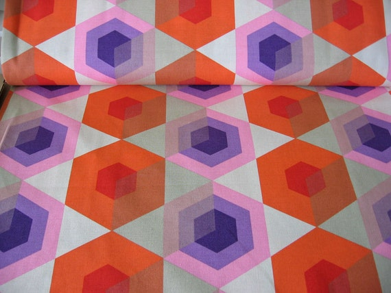 Decorator Fabric hexagon / Japanese Fabric/ Kokka  / Scandinavian/ pillow cut